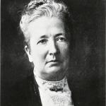 Black and white portrait of Althea Sherman