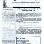 Scan of the cover page from the Big Bluestem Audubon Society Volume 36