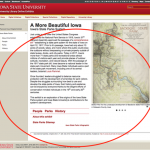 Screenshot from the Iowa State's Online Exhibit's website