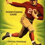 Colored image of poster from Missouri v.s. Iowa State homecoming football game in 1935