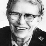 Black and white portrait of Gladys Black