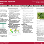 Colored image of research poster from TSM/ABE325: Biorenewable Systems