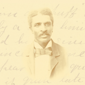 Septic image of George Washington Carver overlaid hand-script
