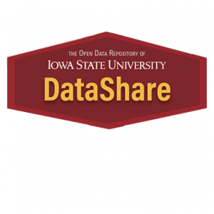 Diamond shaped cardinal red DataShare logo