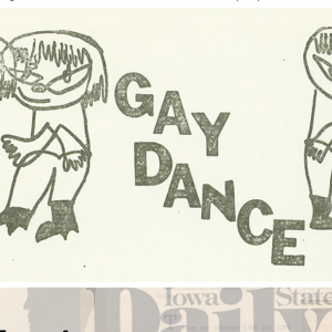 A section of advertising for a Gay Dance program