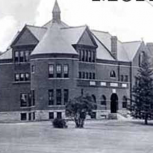 Black and white image of Morrill Hall