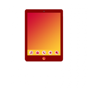 "Red tablet with a yellow fade screen. Credits: <a href=""https://www.freepik.com/free-photos-vectors/infographic"">Infographic vector created by freepik - www.freepik.com</a>"
