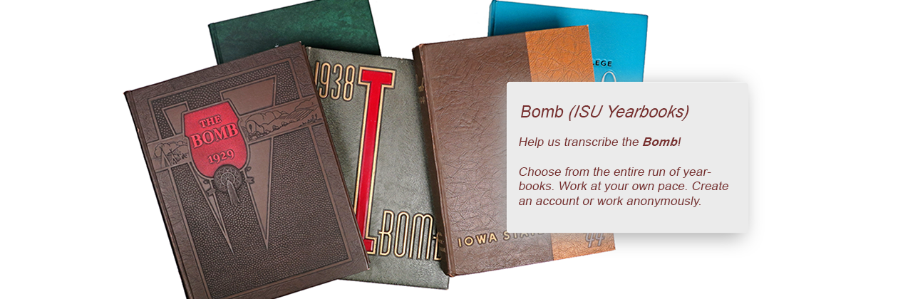 Bomb (ISU Yearbook)  Help us transcribe the Bomb!